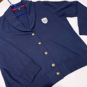 Tommy Hilfiger XXL Blue Knit Cardigan Blazer